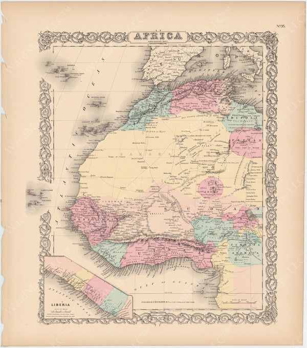 Africa (Northwest Part) 1856