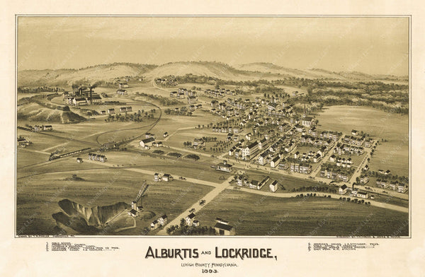 Alburtis and Lockridge, Pennsylvania 1893