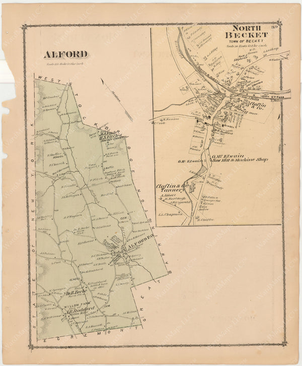 Alford and Becket, Massachusetts 1876