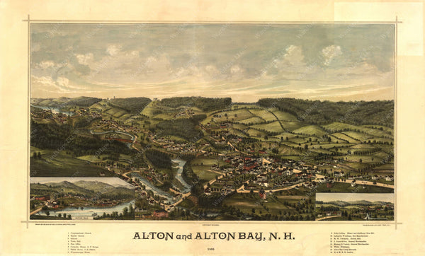 Alton and Alton Bay, New Hampshire 1888