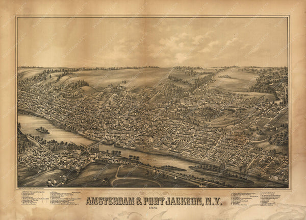 Amsterdam and Port Jackson, New York 1881