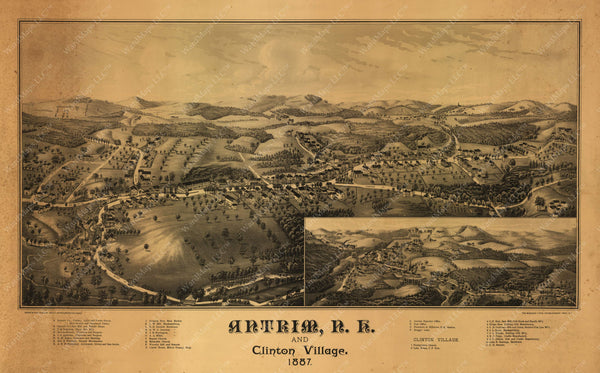 Antrim and Clinton Village, New Hampshire 1887
