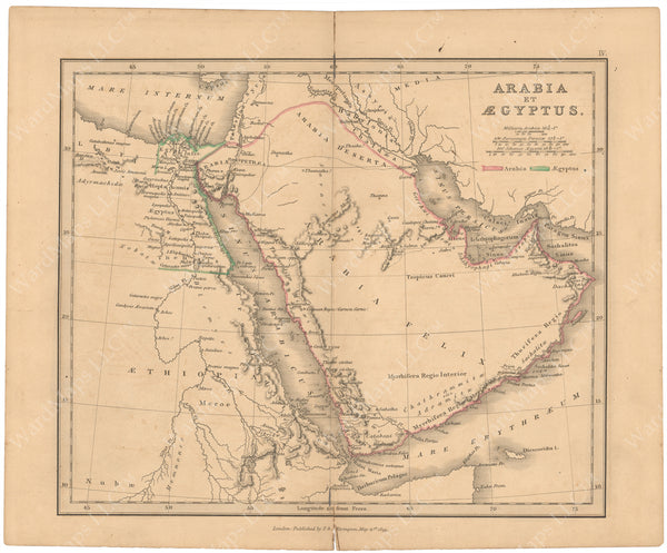 Classical Atlas 1849: Arabia and Egypt