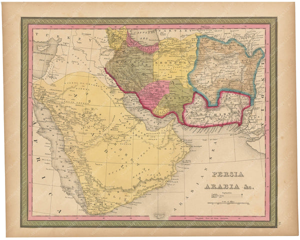 Arabia and Persia 1847