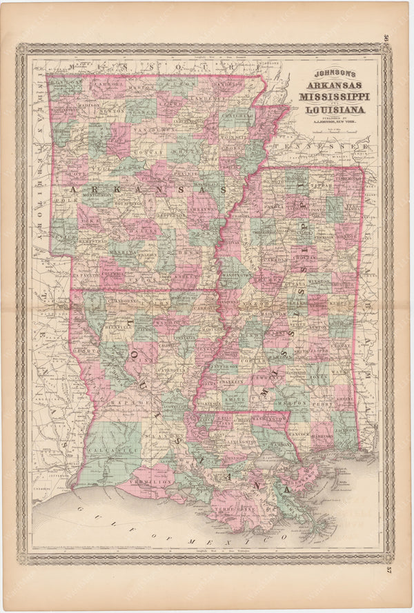 Arkansas, Louisiana, and Mississippi 1873