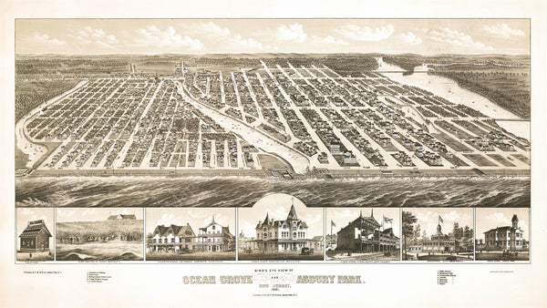 Asbury Park and Ocean Grove, New Jersey 1881