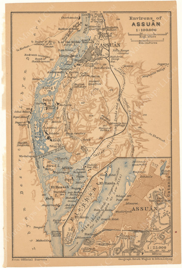 Nile River, Egypt 1908: Environs of Aswan