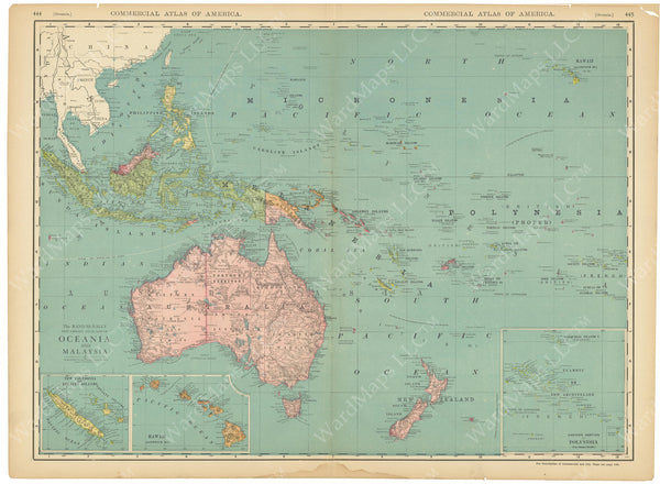 Australia, East Indies, Oceania, and South Pacific 1916