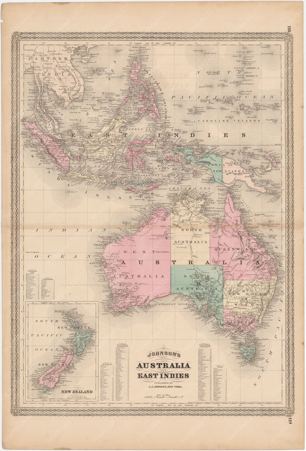 Australia and East Indies 1873