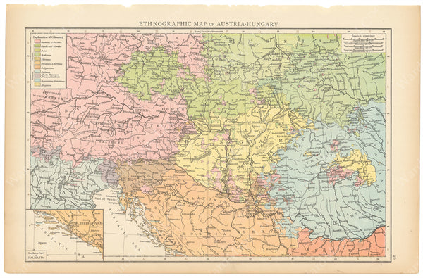 Austria and Hungary 1895: Ethnographic