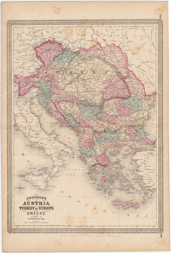 Austria, Greece, and Turkey in Europe 1873
