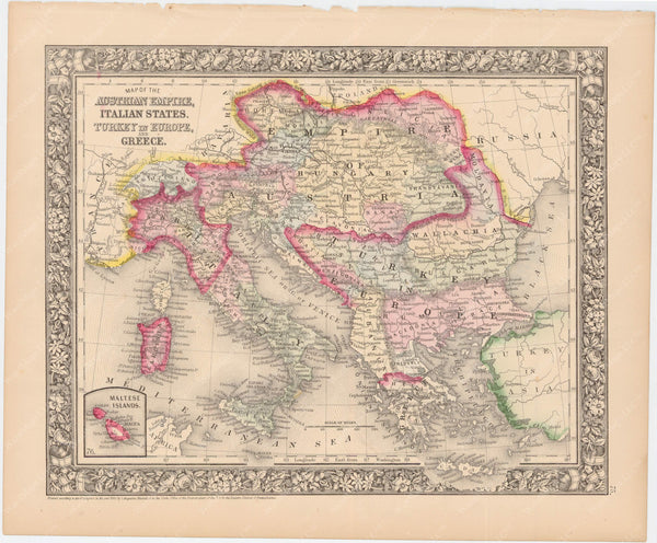 Italy, Austria-Hungary, and The Balkans 1864