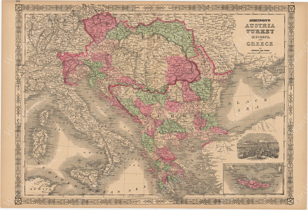 Austria, Greece, and Turkey in Europe 1864