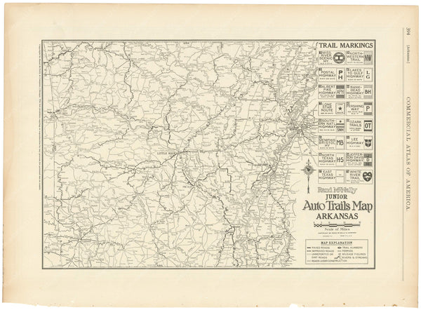 Arkansas 1925: Auto Trails
