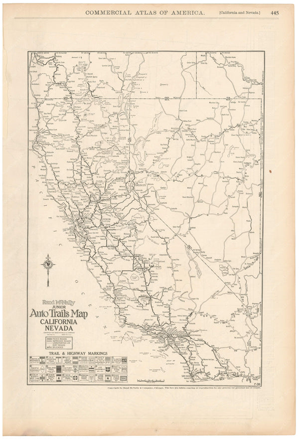 California and Nevada 1925: Auto Trails