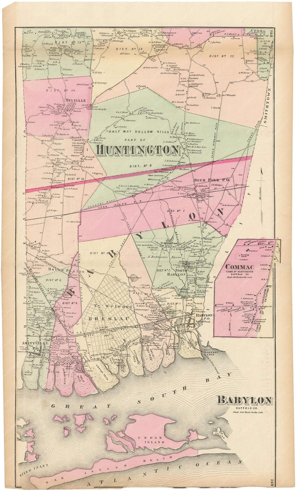 Babylon and Huntington, New York 1873