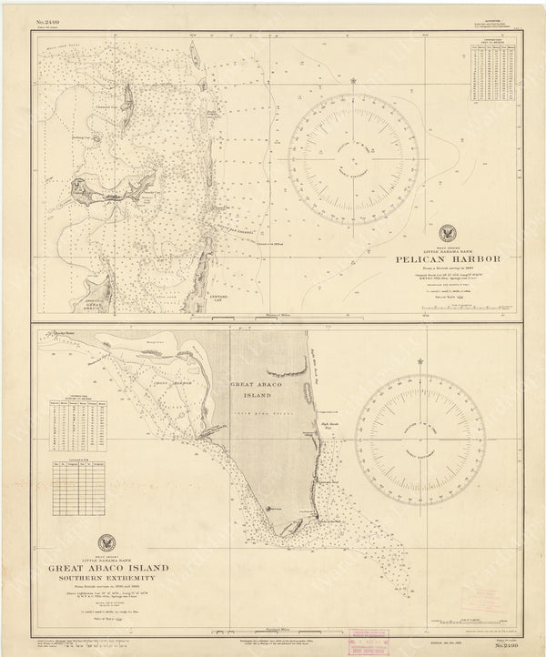 USNHO West Indies - Little Bahama Bank: Pelican Harbor and Great Abaco Island 1941