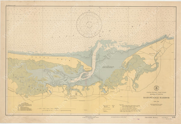 USC&GS Massachusetts: Barnstable Harbor 1943