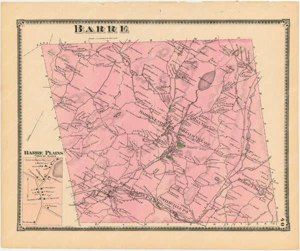 Barre, Massachusetts 1870