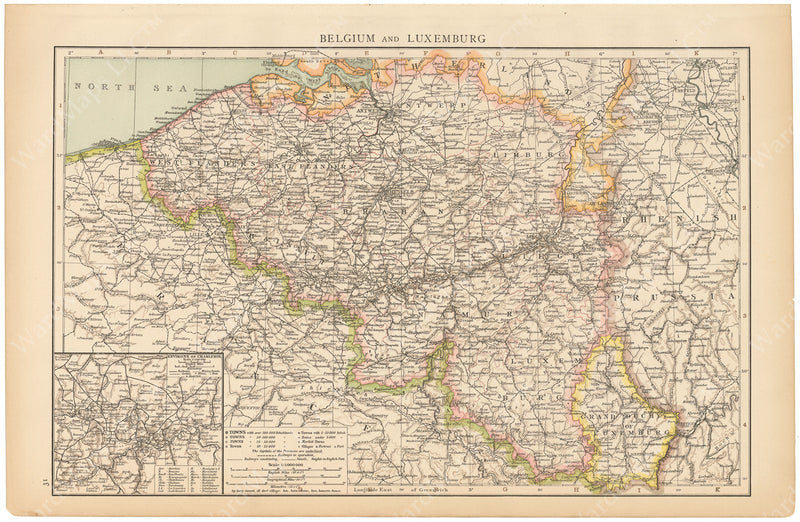 Belgium and Luxembourg 1895