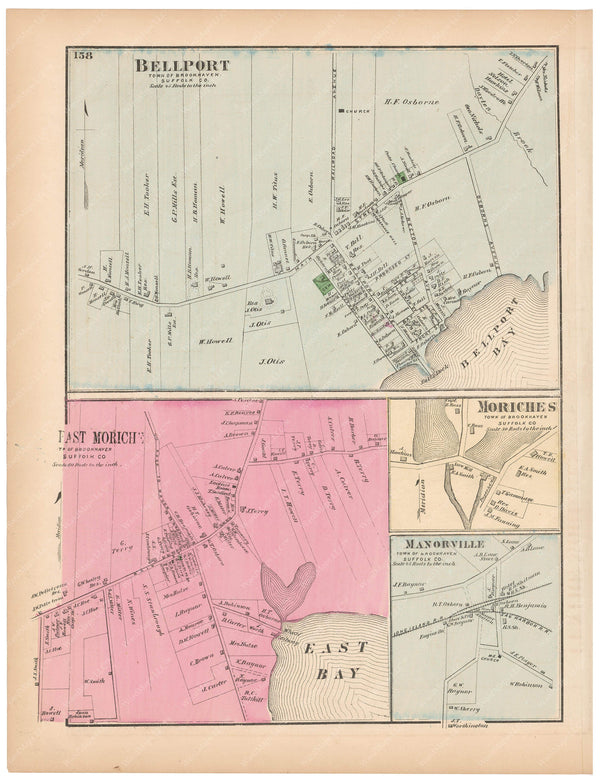 Brookhaven: Bellport, East Moriches, Manorville, Moriches, New York 1873
