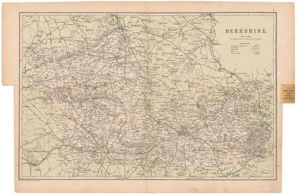 London, England and Suburbs 1910: Berkshire County