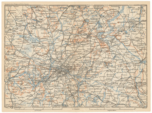 Brandenburg, Germany 1908: Central Part