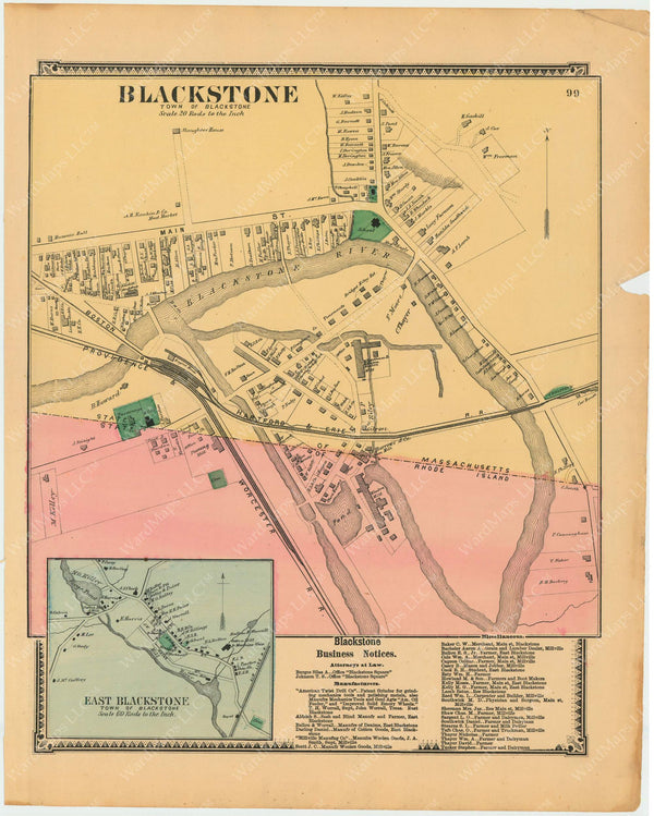 Blackstone, Massachusetts 1870