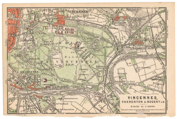 Paris, France 1891: Bois de Vincennes