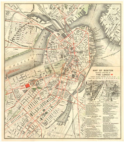 "Boston, Massachusetts 1897 ""Vest Pocket Map"""
