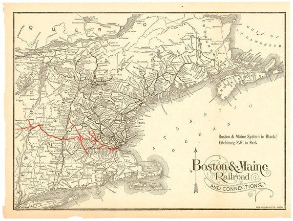 Boston & Maine Railroad and Connections 1900
