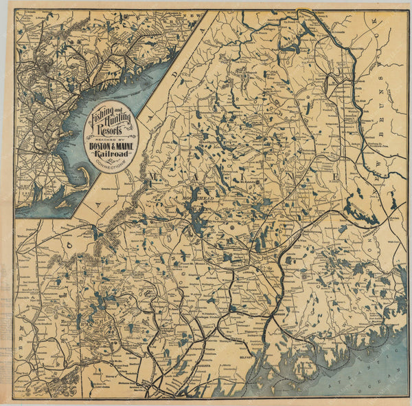 Fishing and Hunting Resorts Reached by Boston & Maine Railroad and Connections 1903