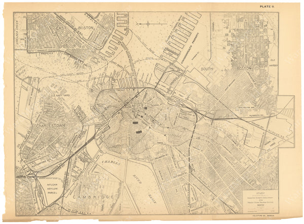 Boston, Massachusetts 1909: Suggested Ultimate Development of Steam Railroad Systems