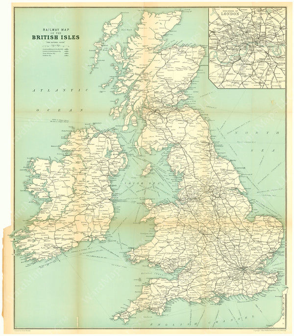 Railway Map of the British Isles 1931