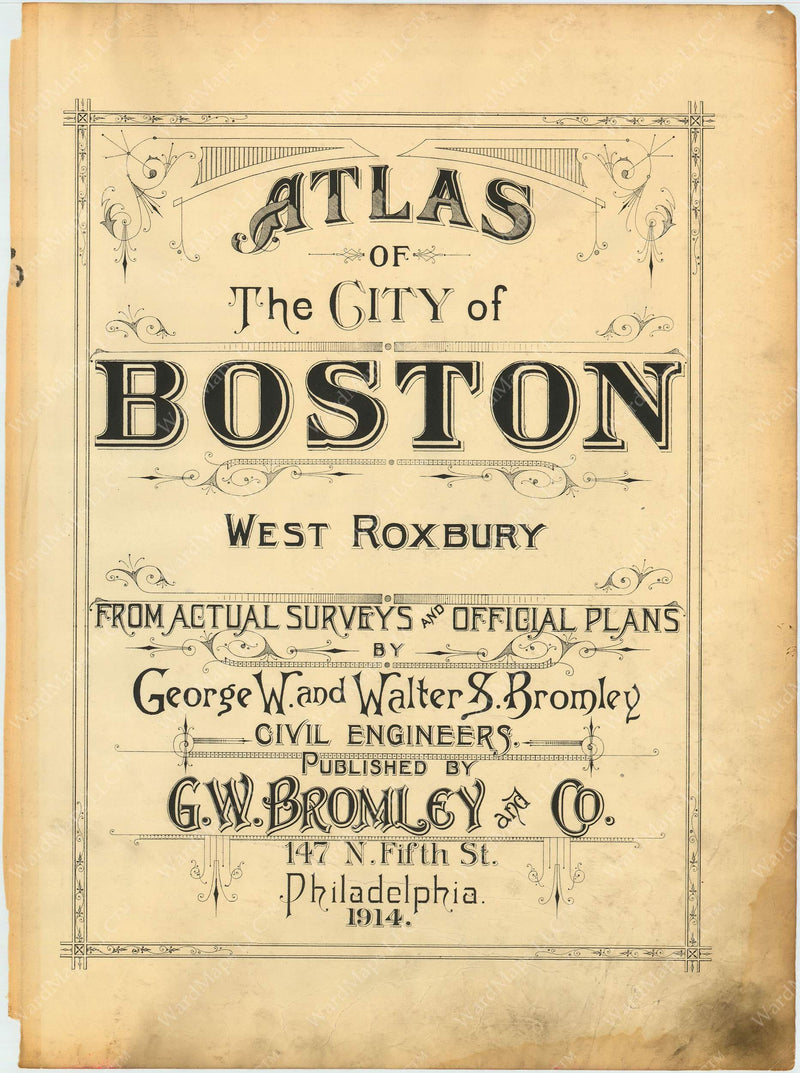 West Roxbury, Massachusetts 1914 Title Page