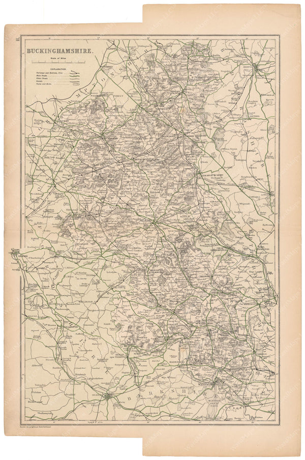 London, England and Suburbs 1910: Buckinghamshire County