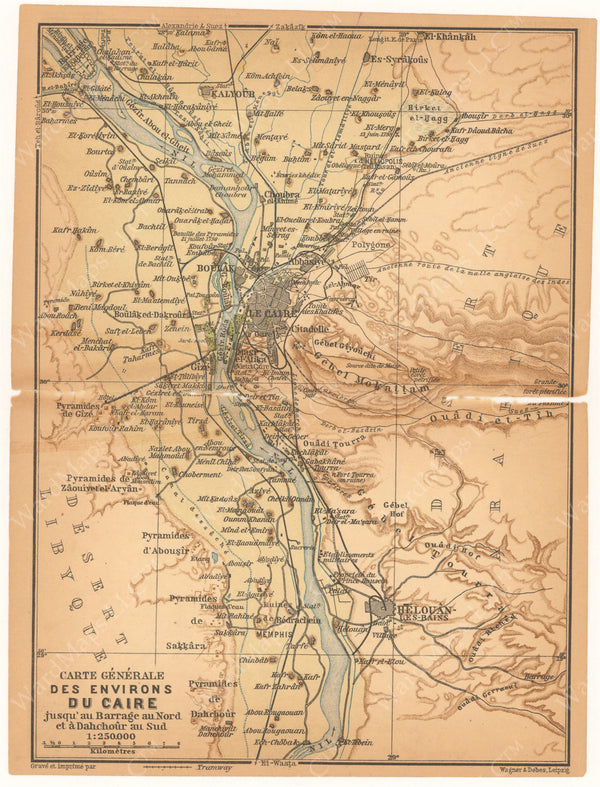Cairo and Environs along the Nile River, Egypt 1908