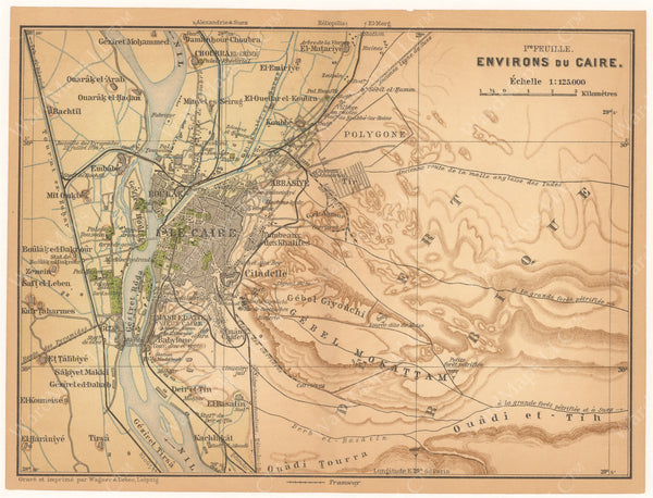 Cairo and Environs, Egypt 1908
