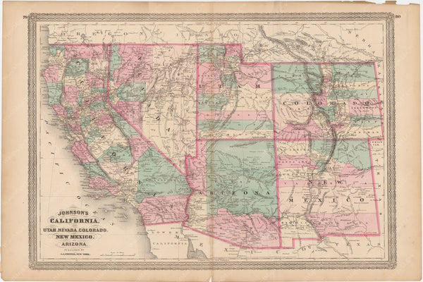 Arizona, California, Colorado, Nevada, New Mexico, and Utah 1873