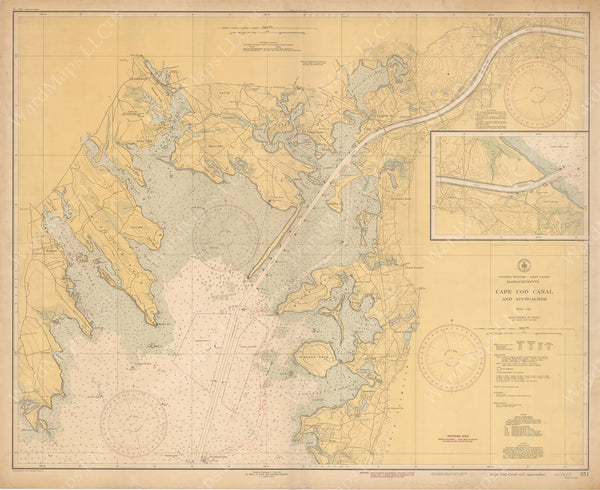USC&GS Massachusetts: Cape Cod Canal and Approaches 1945