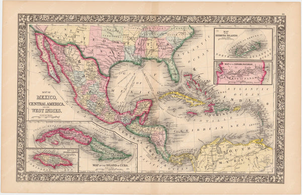Mexico, Central America, and West Indies 1864