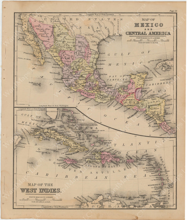 Mexico, Central America, and The West Indies 1879