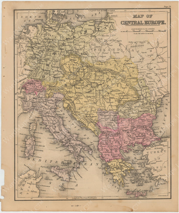 Europe 1879: Central Part
