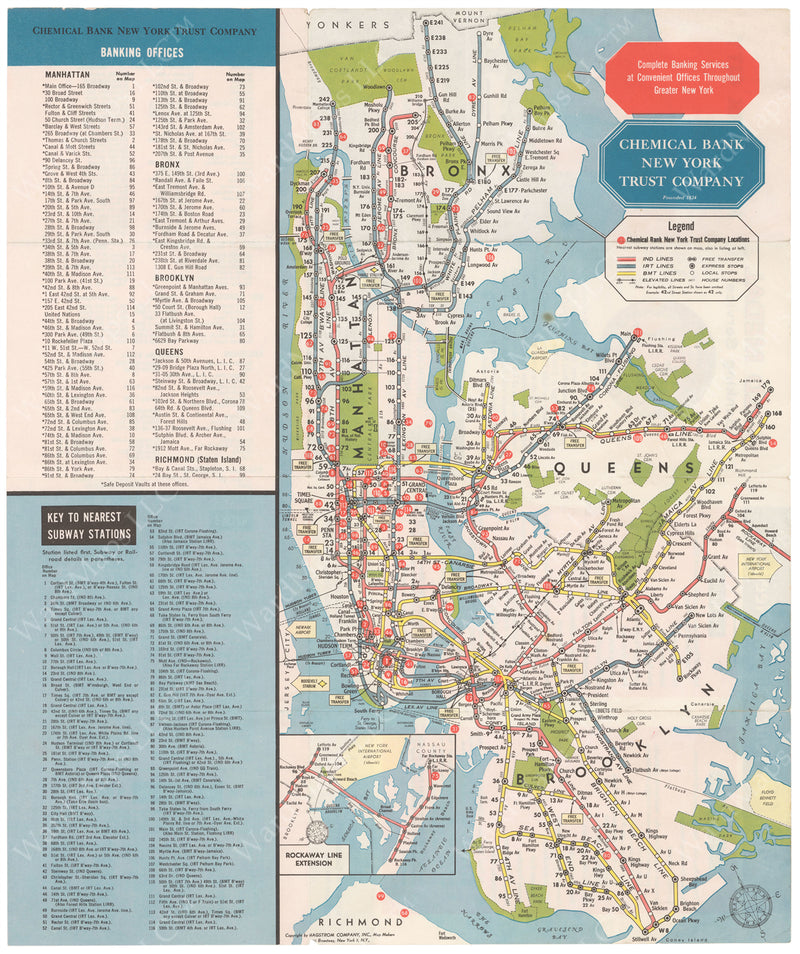 New York City Subway Map 1965