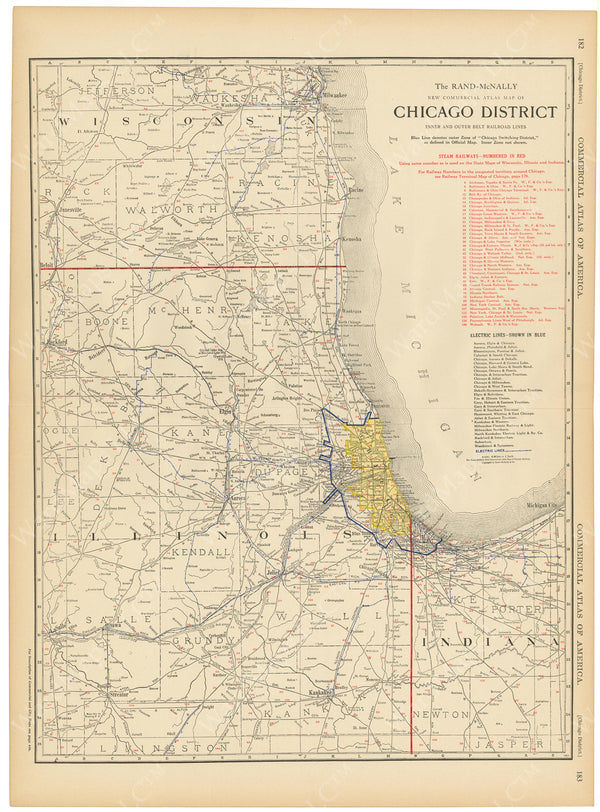 Chicago District, Illinois, Indiana, and Wisconsin 1916