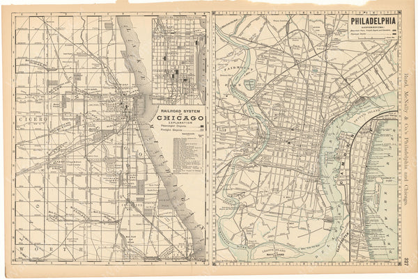 Chicago and Philadelphia 1892