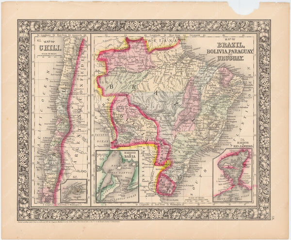 Chile, Bolivia, and Brazil 1864