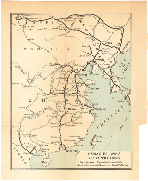 China Railways and Connections 1924