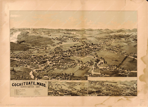 Cochituate (Wayland) and North Natick, Massachusetts 1887