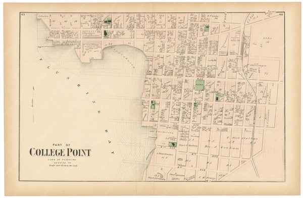 Flushing: College Point South, New York 1873